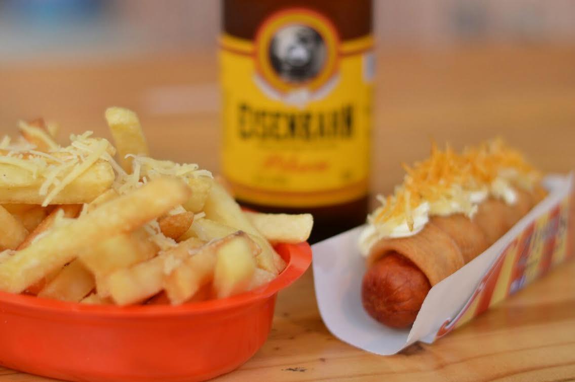 Churros dog mais cerveja ou Batata Belga com cerveja do Zirkus