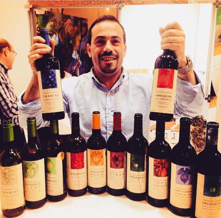 Hamilton Reis - vinícola Cortes de Cima